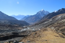 Looking back down on Chhukung. Dingbuche is even further down the walley
